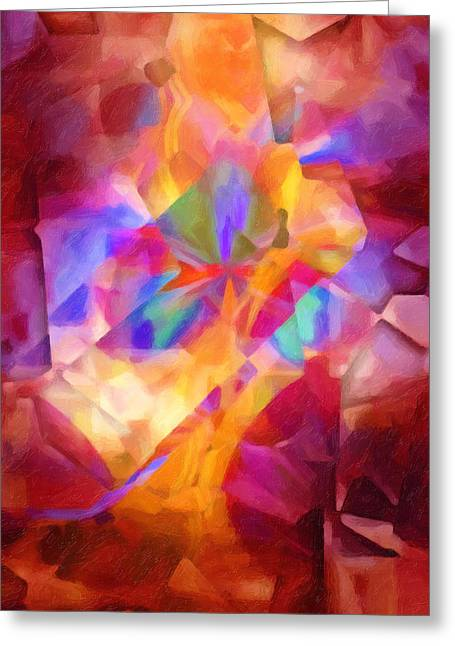 Abstract Digital Paintings Greeting Cards - Cubicscape Artisan Greeting Card by Lutz Baar