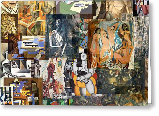 Cubism 1907 To 1914 Greeting Card by Anders Hingel