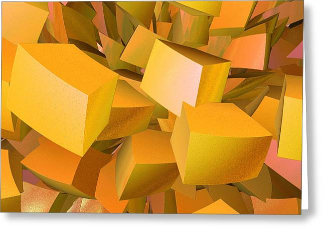 First Star Art By Jammer Greeting Cards - Cubist Melon Burst by jammer Greeting Card by First Star Art