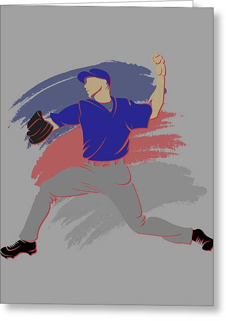 Chicago Cubs Stadium Greeting Cards - Cubs Shadow Player Greeting Card by Joe Hamilton