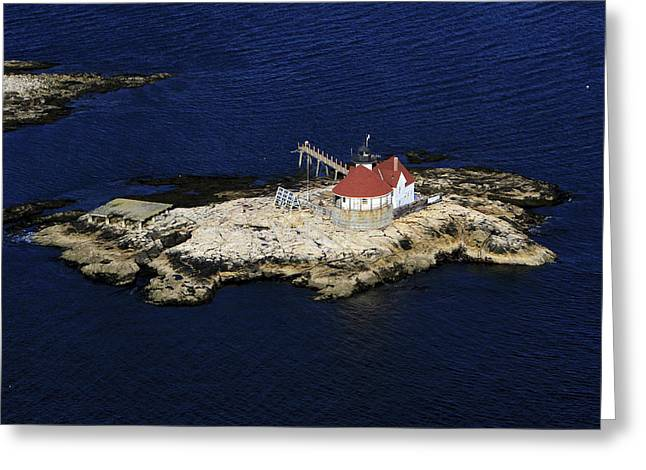 Dave Greeting Cards - Cuckolds Lighthouse, Southport Greeting Card by Dave Cleaveland