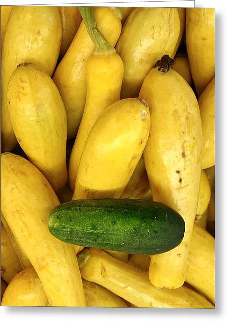 Unprepared Greeting Cards - Cucumber Yellow Squash Greeting Card by Mark Victors