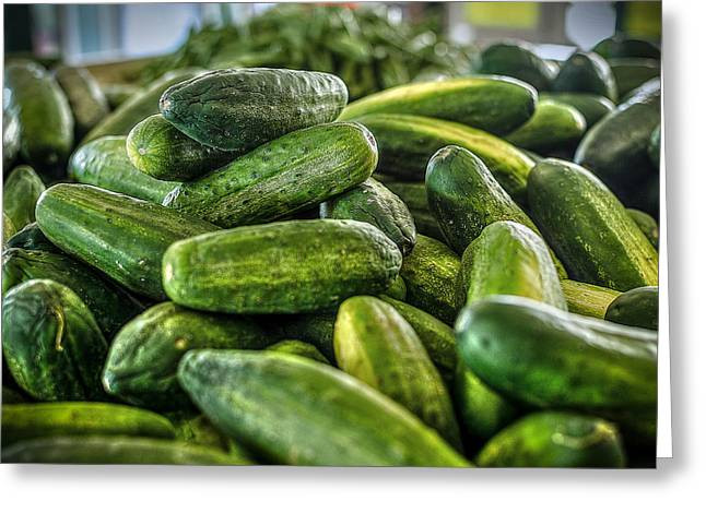 Cucumbers Greeting Cards - Cucumbers Greeting Card by David Morefield
