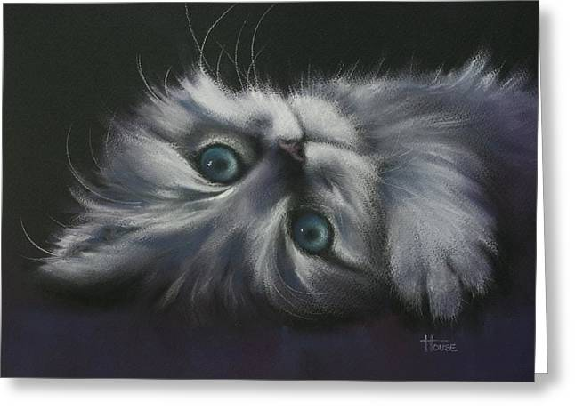Cute Kitten Pastels Greeting Cards - Cuddles Greeting Card by Cynthia House