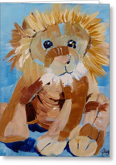 Cuddly Lion Greeting Card by Suzanne Willis
