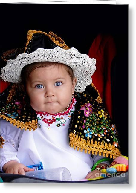 Innocence Child Greeting Cards - Cuenca Kid 561 Greeting Card by Al Bourassa