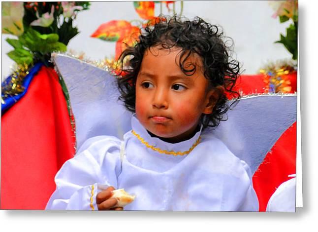 Cuenca Kids 215 Greeting Card by Al Bourassa