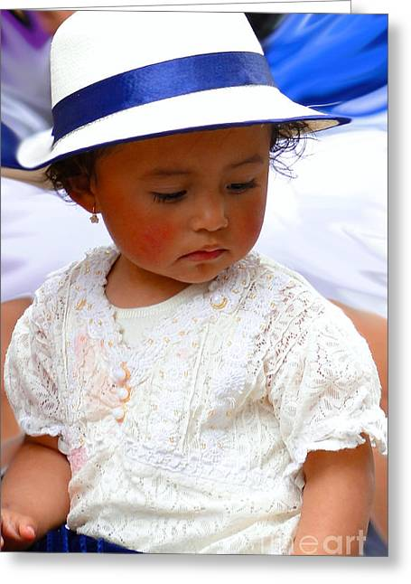 Innocence Child Greeting Cards - Cuenca Kids 217 Greeting Card by Al Bourassa