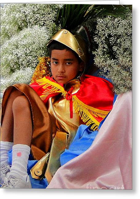 Cuenca Kids 228 Greeting Card by Al Bourassa