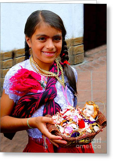 Special Necklace Greeting Cards - Cuenca Kids 234 Greeting Card by Al Bourassa