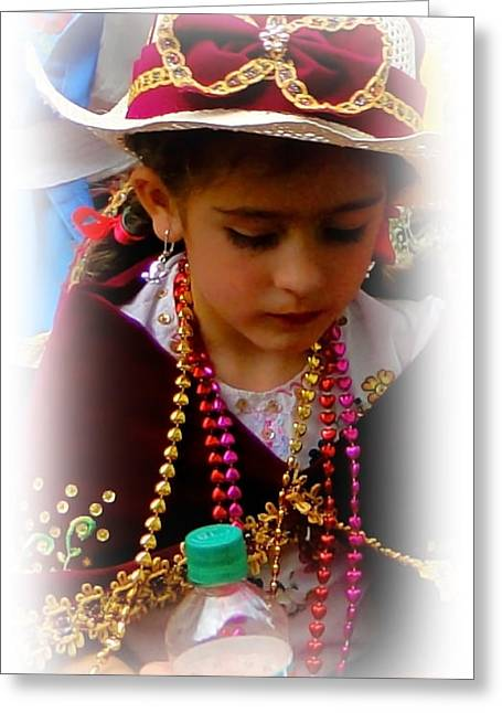 Special Necklace Greeting Cards - Cuenca Kids 244 Greeting Card by Al Bourassa
