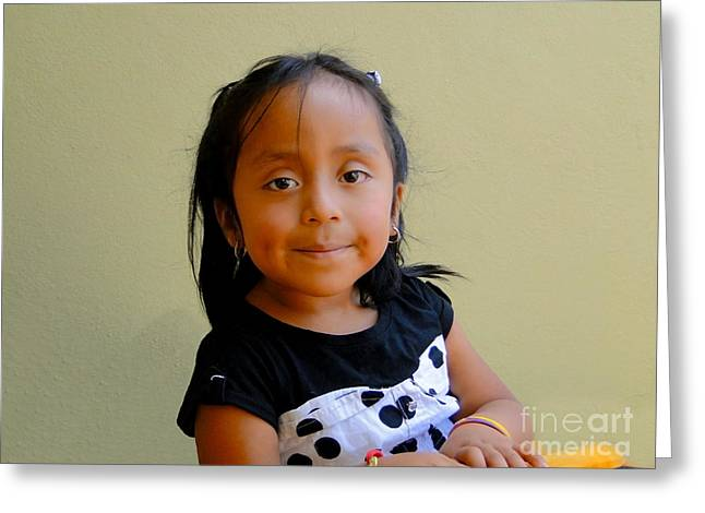 Innocent Smile Greeting Cards - Cuenca Kids 253 Greeting Card by Al Bourassa