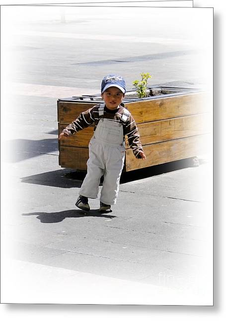 Polite Greeting Cards - Cuenca Kids 279 Greeting Card by Al Bourassa