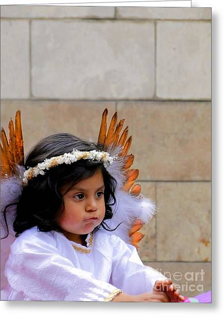 Pout Greeting Cards - Cuenca Kids 296 Greeting Card by Al Bourassa