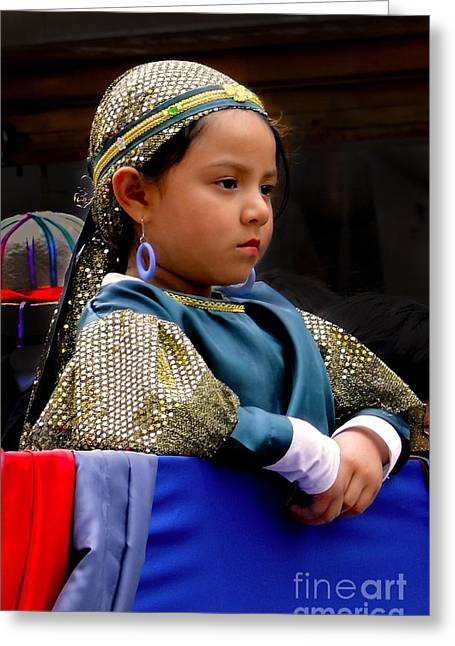 Christmas Eve Greeting Cards - Cuenca Kids 299 Greeting Card by Al Bourassa