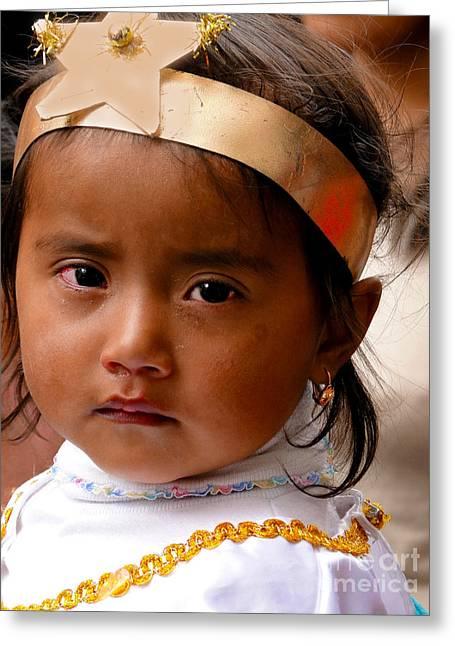 Baby Jesus Greeting Cards - Cuenca Kids 304 Greeting Card by Al Bourassa