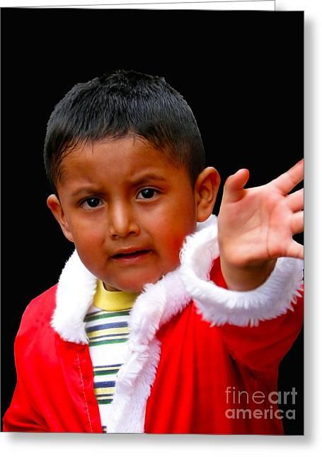 Baby Jesus Greeting Cards - Cuenca Kids 308 Greeting Card by Al Bourassa