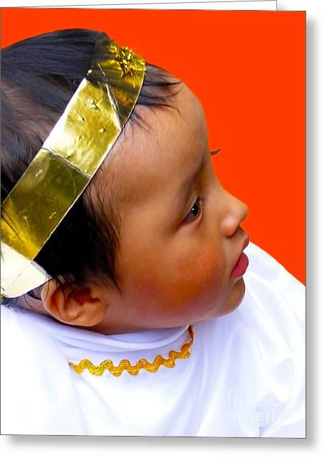 Baby Jesus Greeting Cards - Cuenca Kids 311 Greeting Card by Al Bourassa