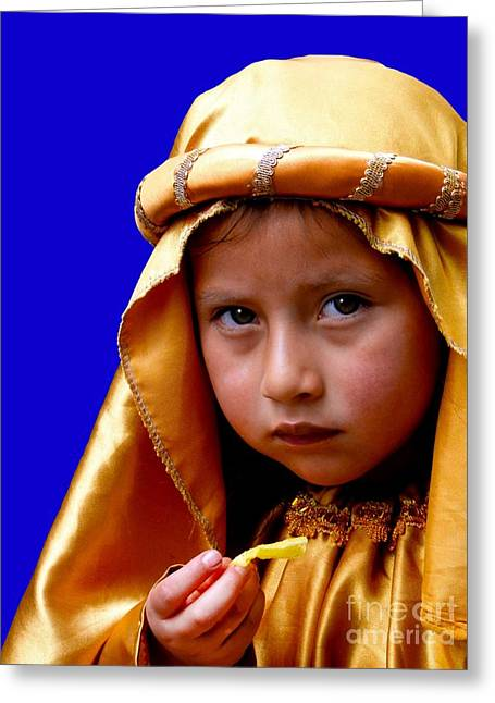 Innocent Smile Greeting Cards - Cuenca Kids 315 Greeting Card by Al Bourassa