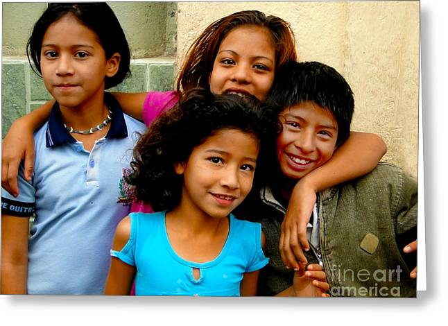 Child Jesus Greeting Cards - Cuenca Kids 323 Greeting Card by Al Bourassa
