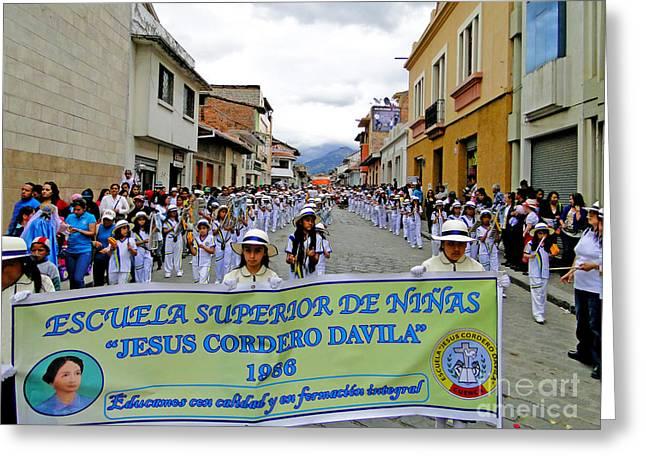 Cuenca Kids 326 Greeting Card by Al Bourassa