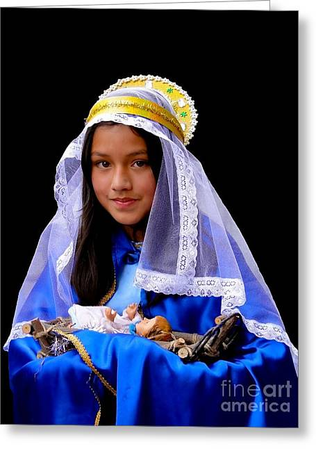 Christmas Eve Greeting Cards - Cuenca Kids 331 Greeting Card by Al Bourassa