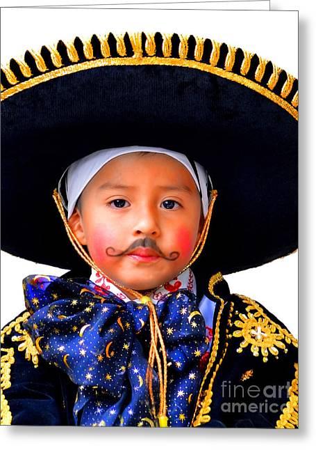 Baby Jesus Greeting Cards - Cuenca Kids 358 Greeting Card by Al Bourassa