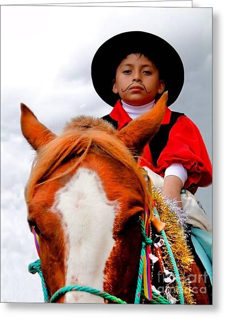 Baby Jesus Greeting Cards - Cuenca Kids 361 Greeting Card by Al Bourassa