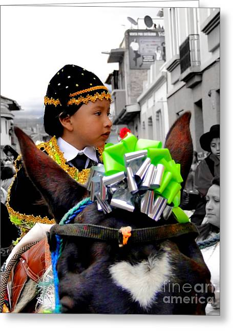 Baby Jesus Greeting Cards - Cuenca Kids 362 Greeting Card by Al Bourassa