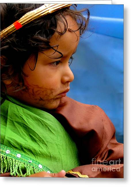 Christmas Eve Greeting Cards - Cuenca Kids 390 Greeting Card by Al Bourassa