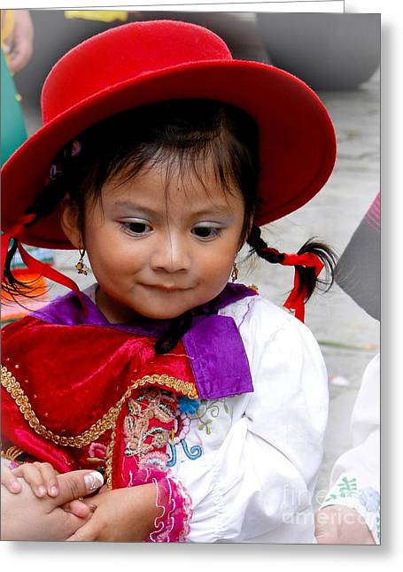 Innocence Child Greeting Cards - Cuenca Kids 403 Greeting Card by Al Bourassa
