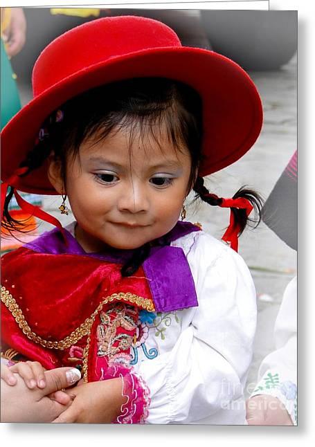 Cuenca Kids 403 Greeting Card by Al Bourassa
