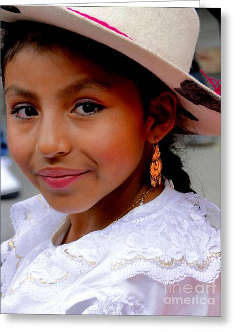 Innocence Child Greeting Cards - Cuenca Kids 409 Greeting Card by Al Bourassa