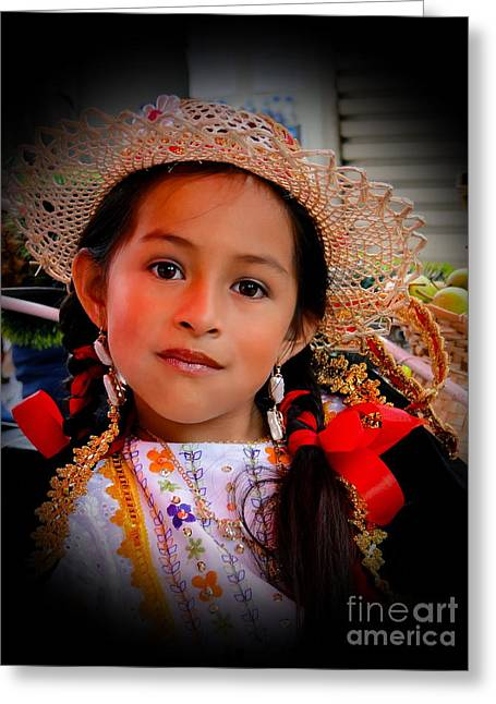 Innocence Child Greeting Cards - Cuenca Kids 415 Greeting Card by Al Bourassa