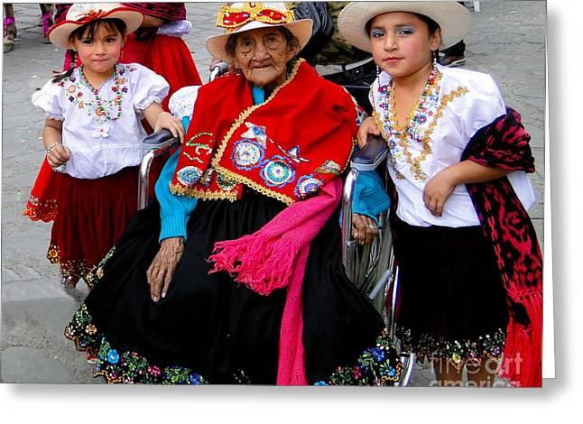 Baby Jesus Greeting Cards - Cuenca Kids 418 Greeting Card by Al Bourassa