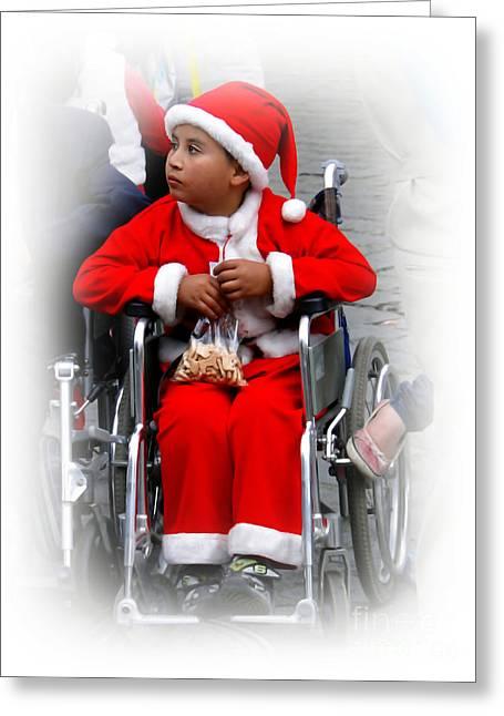 Wheelchair Greeting Cards - Cuenca Kids 420 Greeting Card by Al Bourassa