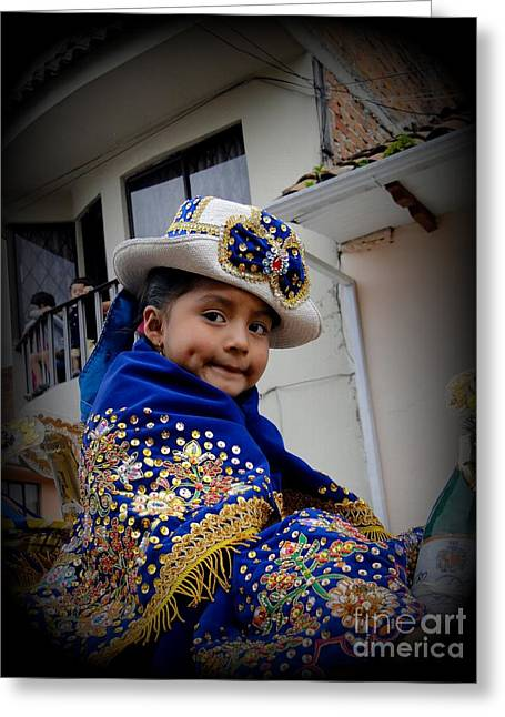 Innocence Child Greeting Cards - Cuenca Kids 422 Greeting Card by Al Bourassa