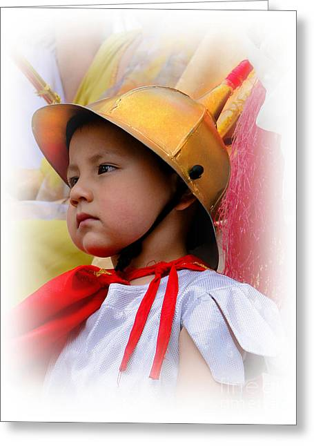 Cuenca Kids 426 Greeting Card by Al Bourassa