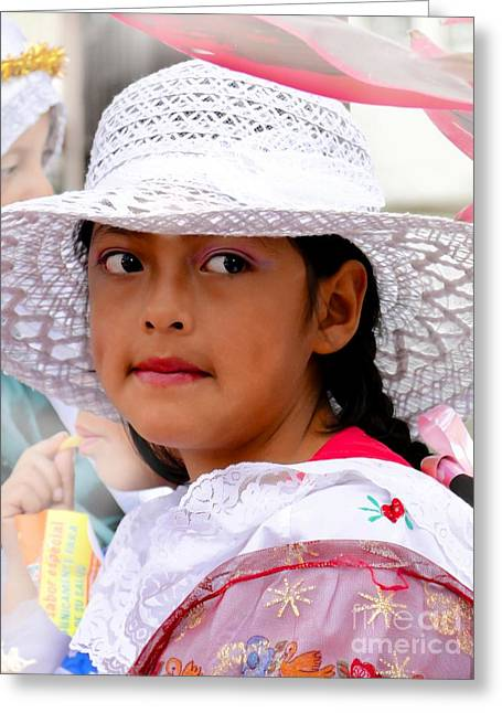 Baby Jesus Greeting Cards - Cuenca Kids 437 Greeting Card by Al Bourassa