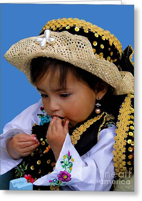 Innocence Child Greeting Cards - Cuenca Kids 440 Greeting Card by Al Bourassa