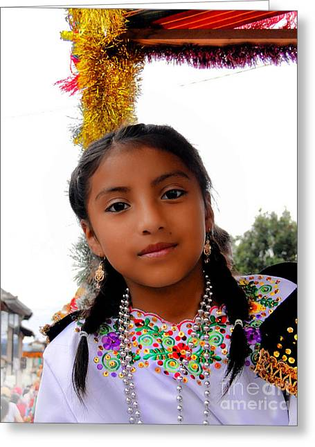 Special Necklace Greeting Cards - Cuenca Kids 463 Greeting Card by Al Bourassa
