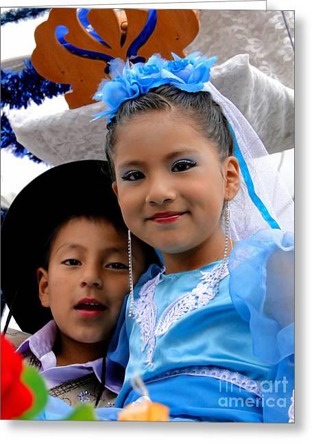 Baby Jesus Greeting Cards - Cuenca Kids 470 Greeting Card by Al Bourassa