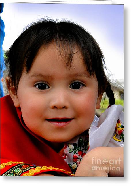 Christmas Eve Greeting Cards - Cuenca Kids 478 Greeting Card by Al Bourassa