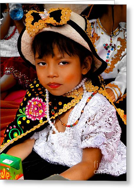 Special Necklace Greeting Cards - Cuenca Kids 497 Greeting Card by Al Bourassa