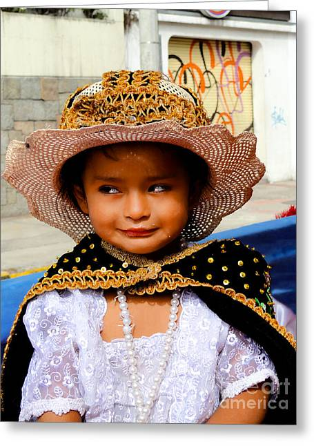 Special Necklace Greeting Cards - Cuenca Kids 498 Greeting Card by Al Bourassa