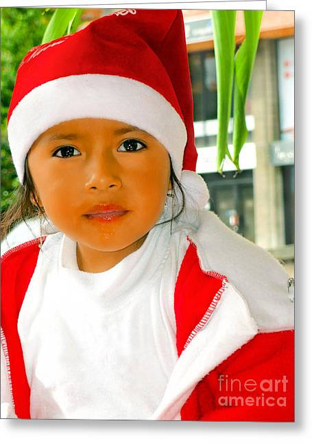 Innocence Child Greeting Cards - Cuenca Kids 502 Greeting Card by Al Bourassa