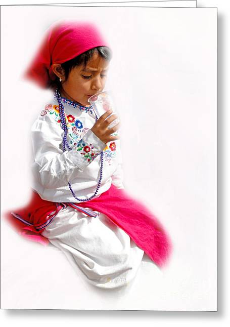 Special Necklace Greeting Cards - Cuenca Kids 507 Greeting Card by Al Bourassa