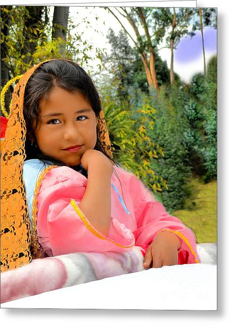 Innocence Child Greeting Cards - Cuenca Kids 531 Greeting Card by Al Bourassa