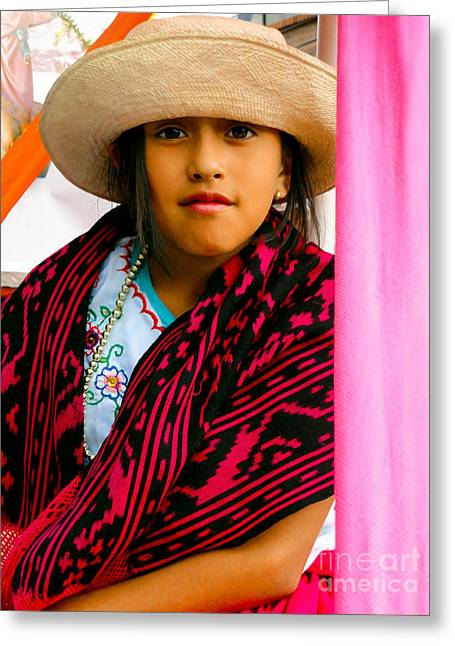 Innocence Child Greeting Cards - Cuenca Kids 537 Greeting Card by Al Bourassa