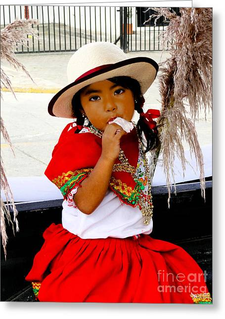 Innocence Child Greeting Cards - Cuenca Kids 555 Greeting Card by Al Bourassa